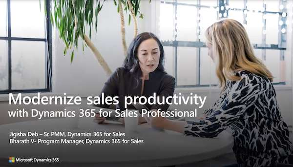 Modernize Your Sales Productivity in Hours, Not Days